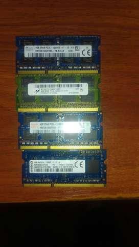 Memoria ram ddr3 4gb PC3L bus 1600