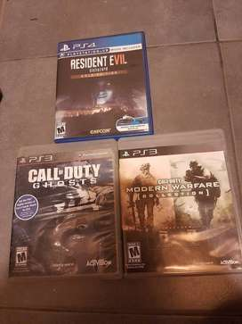 Vendo 2 juegos de PS3 y 1 de PS4. leer descripcion