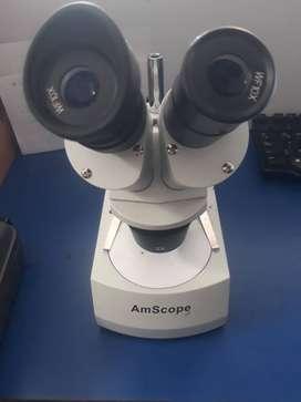 microscopio estereo amscope