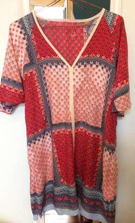Vestido, tunica, blusa patch divina!!! Talle L