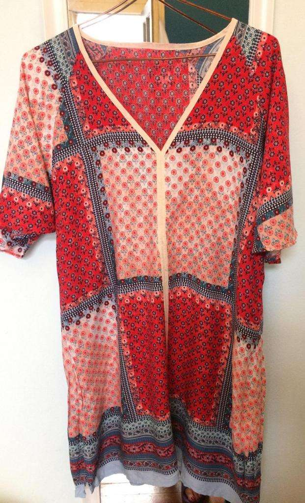Vestido, tunica, blusa patch divina!!! Talle L 0