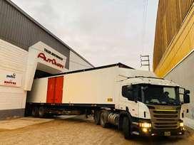 Scania p410 2015  con furgon del 2019
