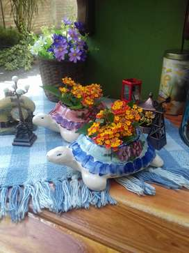Oportunidad! dos lindas tortugas de ceramica