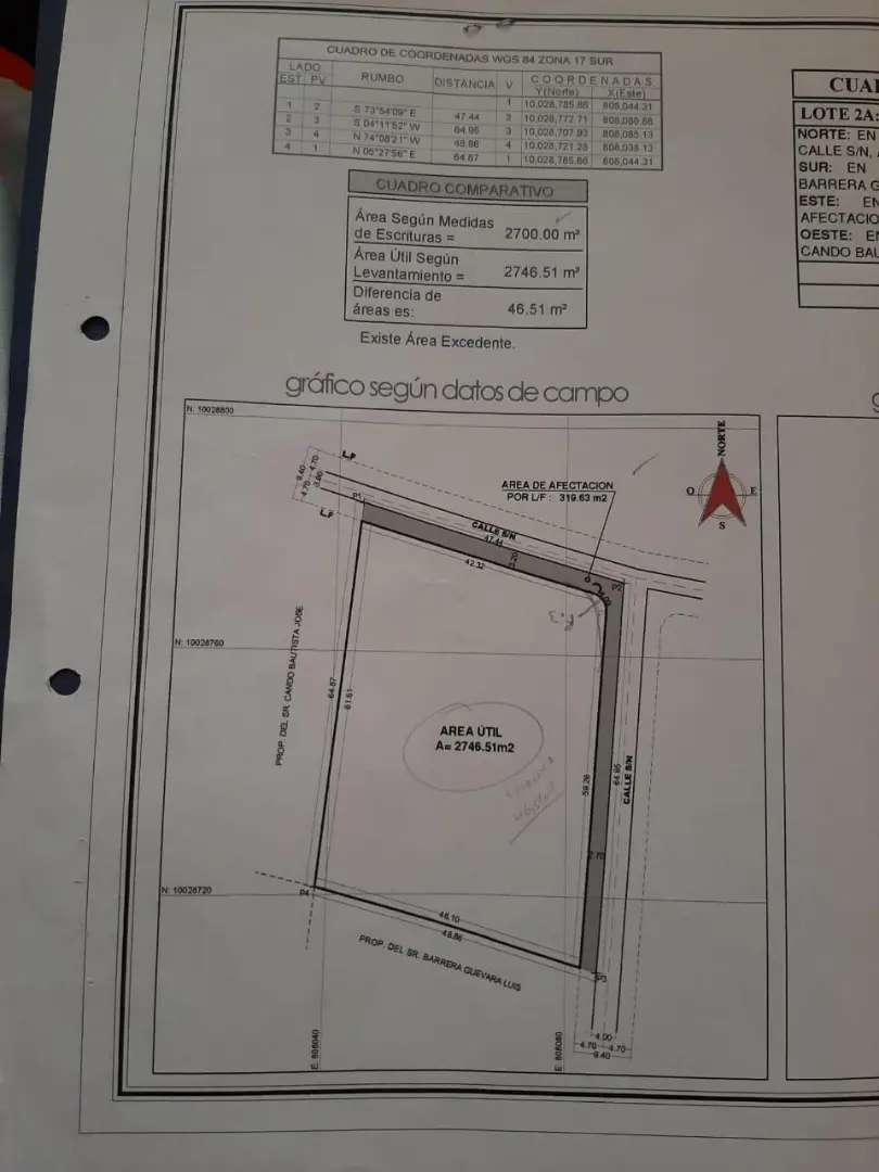 Vendo terreno de 1000 m2 en el sector de Quinchuqui 0