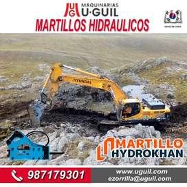 Martillos Hidraulicos Nuevos y Usados HYDROKHAN Para EXCAVADORAS