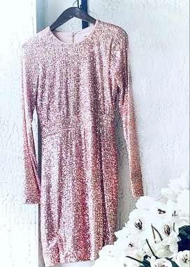 Vestido corto elegante palo de rosa