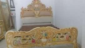 Juego Dormitorio Caoba Tallado