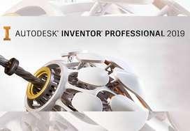 Clases Tutorías y Trabajos en Autocad, Inventor y CREO