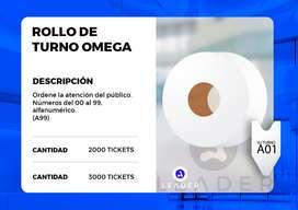 Rollo de Ticket Rollo de 3000 Tickets Rollo de 2000 Tickets Rollo de turno Dispensador de turno Caracol para turno