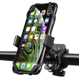 Soporte de Ajuste Bicicleta | Moto para Celular de Tamaño Universal | Extra seguro - Girable 360º
