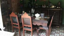 Comedor 8 puestos única pieza 1896 época de la colonia