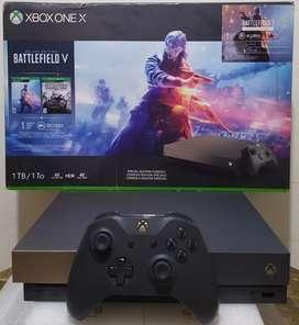 Xbox One X 1 Tera Edición Gold Rush