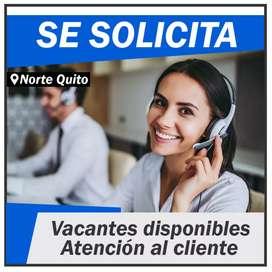 Solicitamos Personal para la ciudad de Quito.