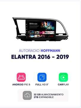 Autoradio Hoffmann Homologado Hyundai Elantra 2016 – 2019 9″CarPlay Android 9.1