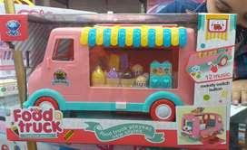 Camión de comidas o carro de helados juguete, bus, camion o carro