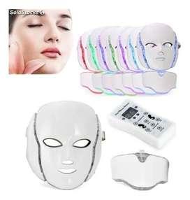 Mascara Cuello Fototerapia Led Tratamiento Facial Oferta - COLORFUL LED BEAUTY MASK