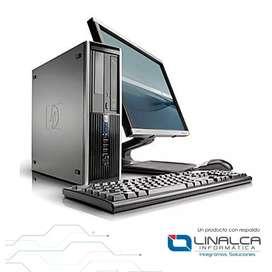 Promoción computadoras hp dual core con monitor teclado mauso garantía