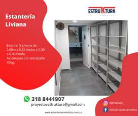 Estantería Liviana 2.00*92*30 o 40