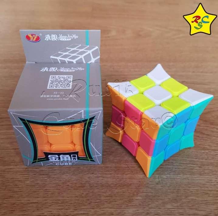 Cubo Rubik Jinjiao Concavo 3x3 Yj Stickerless Speedcube 0