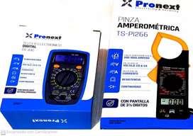 Tester con temperatura+pinza amperométrica