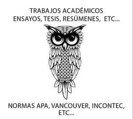 Asesoría Y Ayuda En Tareas Académicas, Trabajos General (Primaria, Bachillerato, Técnicos, Tecnólogos)