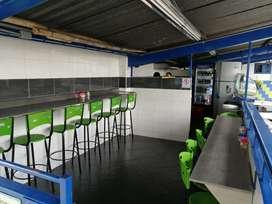 Se sede negocio y local de cafetería 24 horas