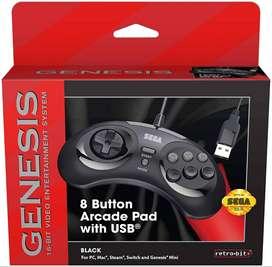 Control Sega Genesis Cableado Para Switch, Pc, Genesis Mini