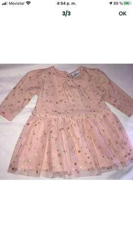 Vendo vestido niña bebe 0-9 meses