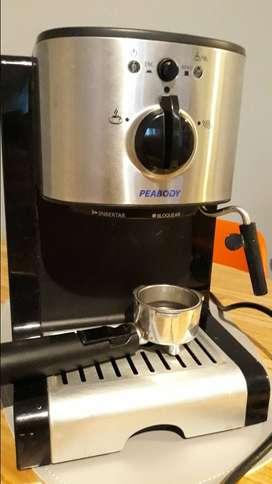 Cafetera Expreso Peabody Automática con Vaporizador (Filtro Permanente)