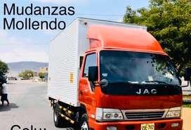 Se hace servicio de mudanza con camion completamente cerrado x su seguridad y discrecion , el servicio es en mollendo
