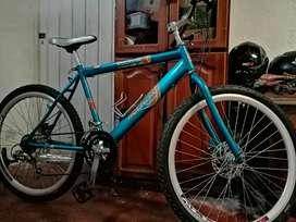 Bicicleta doble freno de disco, rin 26