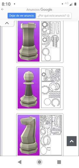 Quién hace figuras de ajedrez en 3D