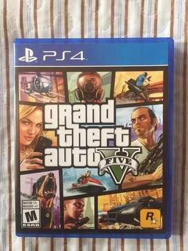 Grand theft Auto V PS4 con mapa como nuevo