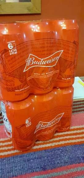Vendo sixpack de cerveza budweiser