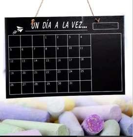 Pizarra Tiza Calendario Diario Mensual