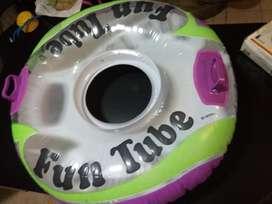 colchoneta tubo dona rosca aro INTEX FUN TUBE como nueva pileta agua