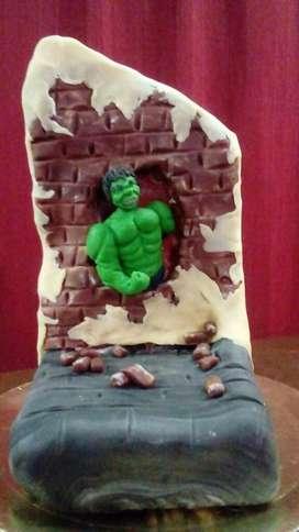 Adorno para Torta Hulk