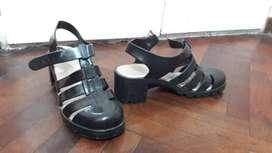 Sandalias  de goma, para lluvia