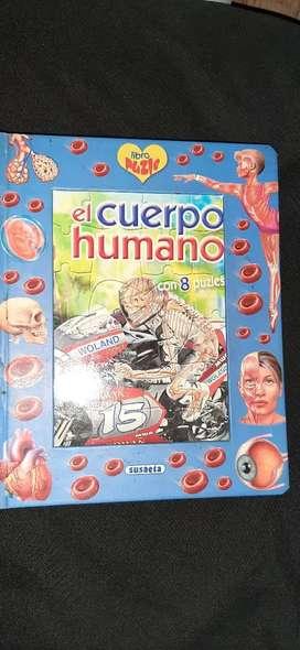 Libro infantil del cuerpo humano con rompecabezas