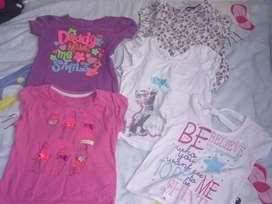 Camisas para niña talla 4 y 5