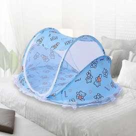 Mosquitero plegable para bebés con colchoneta y almohada