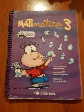 libro matematica  3°  liliana kurzrok  editorial  tinta fresca