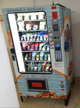 Se vende máquina vending refrigerada con punto