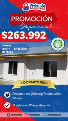 Venta urgente de vivienda, cuotas fijas y en pesos.