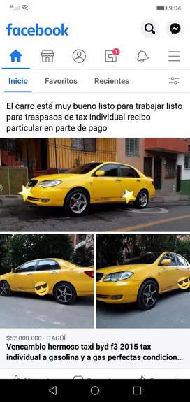 Vencambio taxi byd f3 a gas y gasolina tax individual