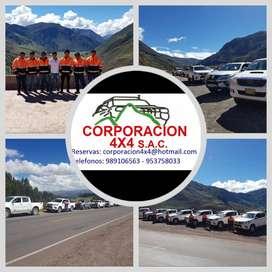 BRINDO SERVICIOS DE TRANSPORTE TERRESTRE A NIVEL NACIONAL A EMPREEN CAMIONETAS 4X4, CAMIONETAS FORTUNER, MINI VAN, BUSES