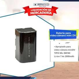 Batería 58l Sm160 Para Videocámara Mini Dv