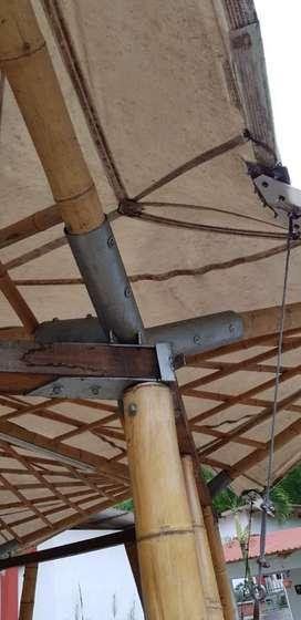 Acoples, uniones, platinas, pletinas, ensambles Para  guadua madera