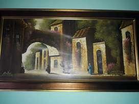 Vendo cuadro autentico de FONTAINE pintado al oleo