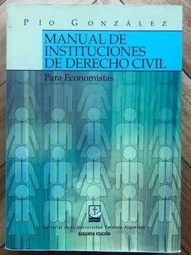Manual de Instituciones de Derecho Civil -Pio Gonzalez
